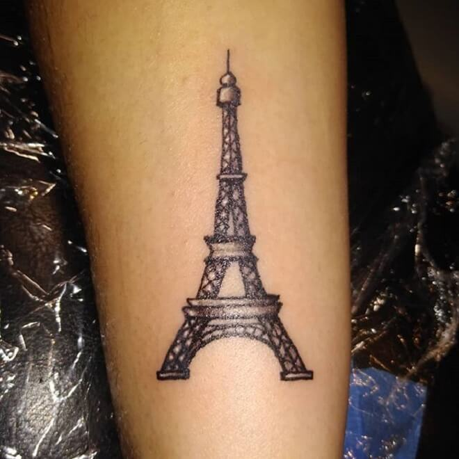 Popular Eiffel Tower Tattoo