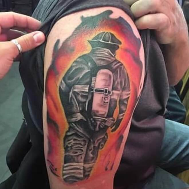 Popular Firefighter Tattoo