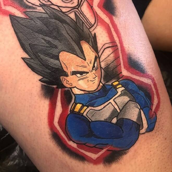 Powerful Vegeta Tattoo