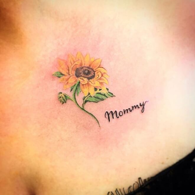 Quotes Small Flower Tattoo
