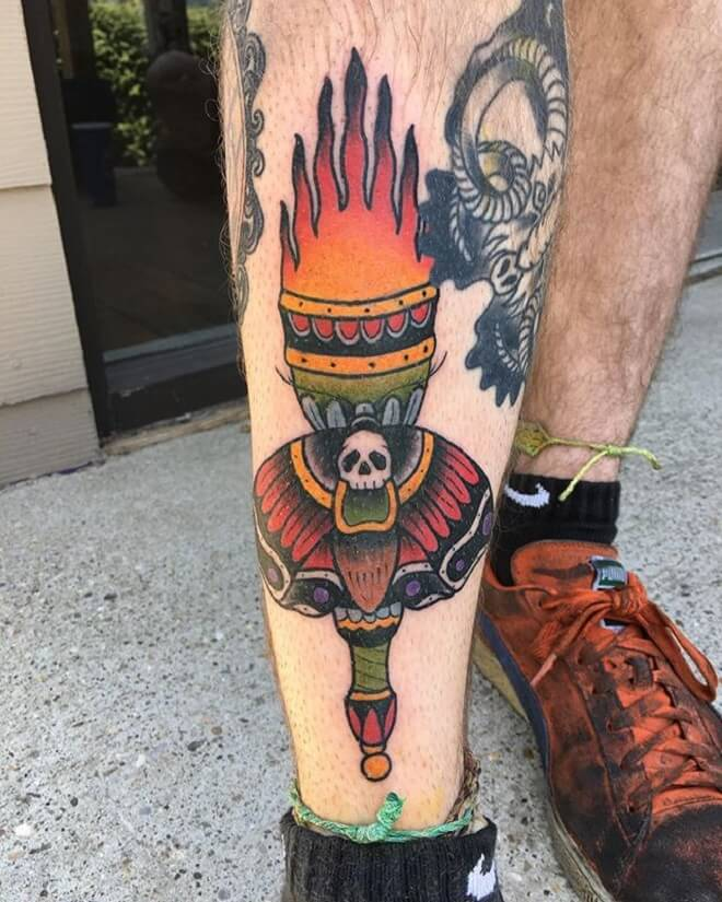 Red Death Moth Tattoo