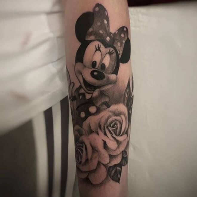 Rose Minnie Mouse Tattoo