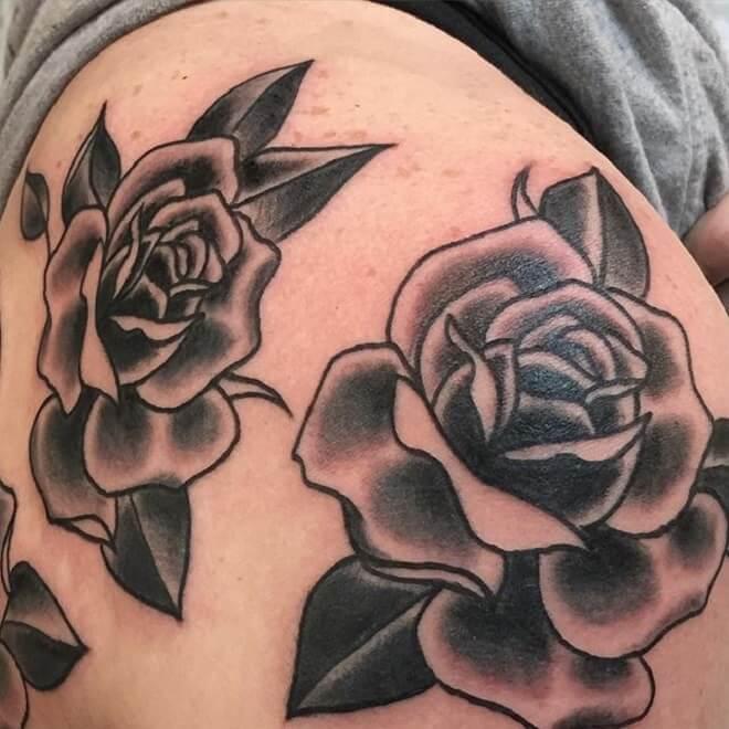Rose Black Tattoo Ideas