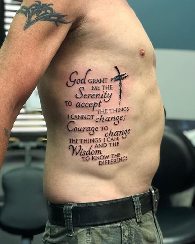 Serenity Prayer Tattoo for Men