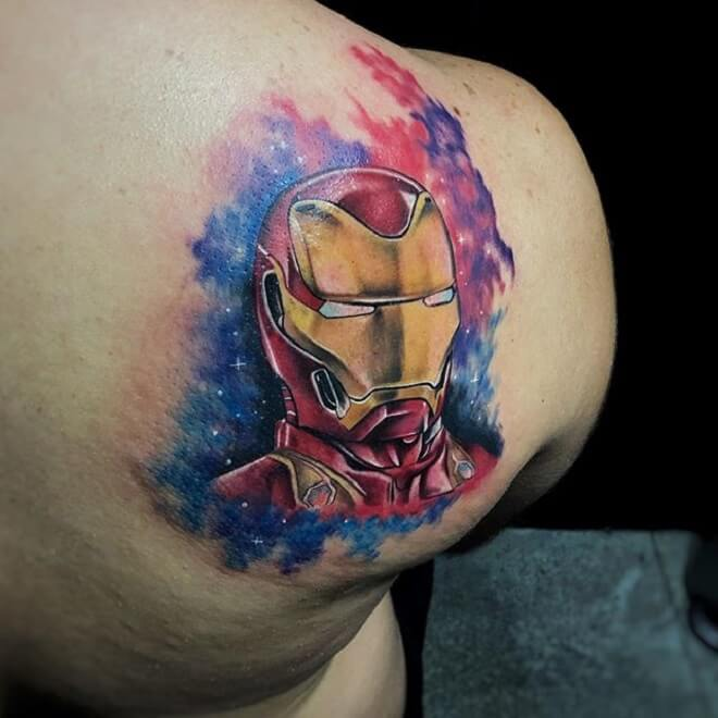 Shoulder Ironman Tattoo