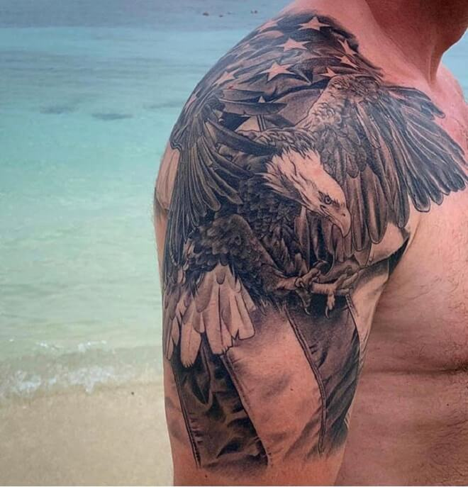 Shoulder Patriotic Tattoo