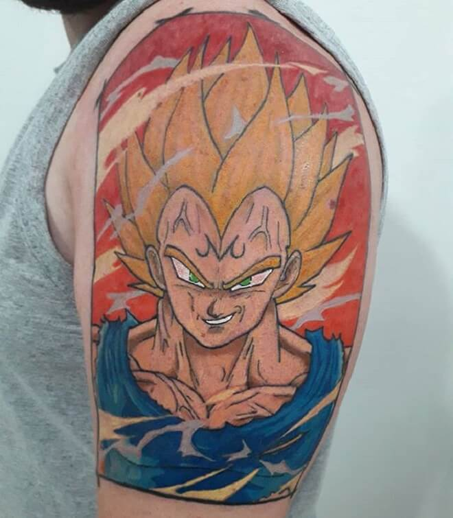 Shoulder Vegeta Tattoo