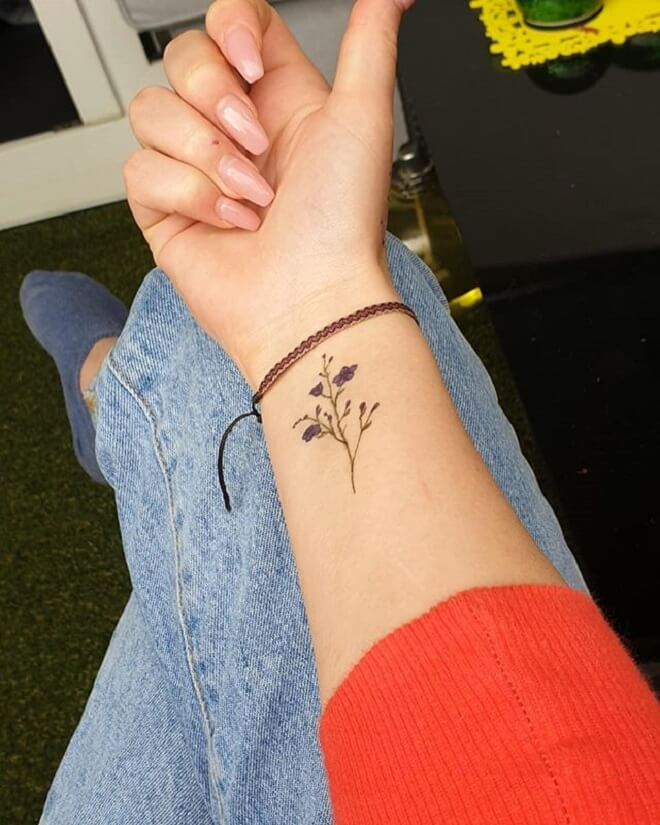 Simple Forget Me Not Tattoo