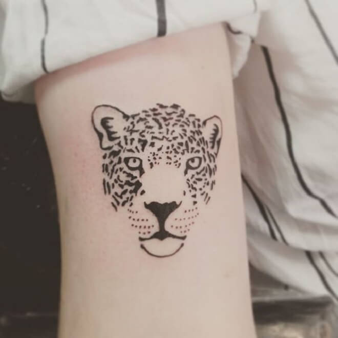 Simple Leopard Tattoo