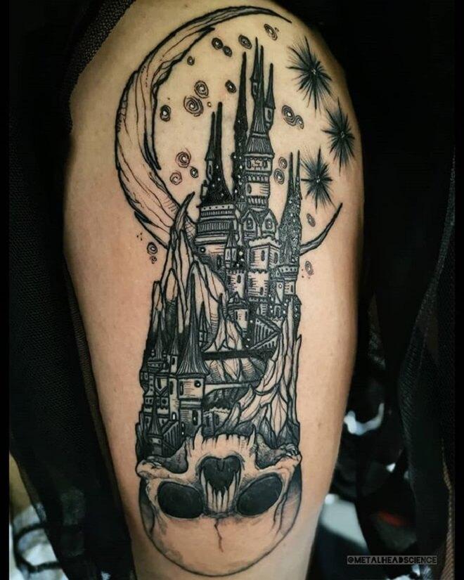 Skull Castle Tattoo