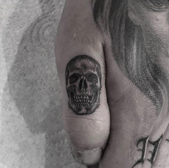 Skull Thumb Tattoo