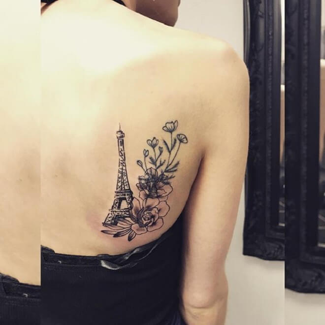 Small Eiffel Tower Tattoo