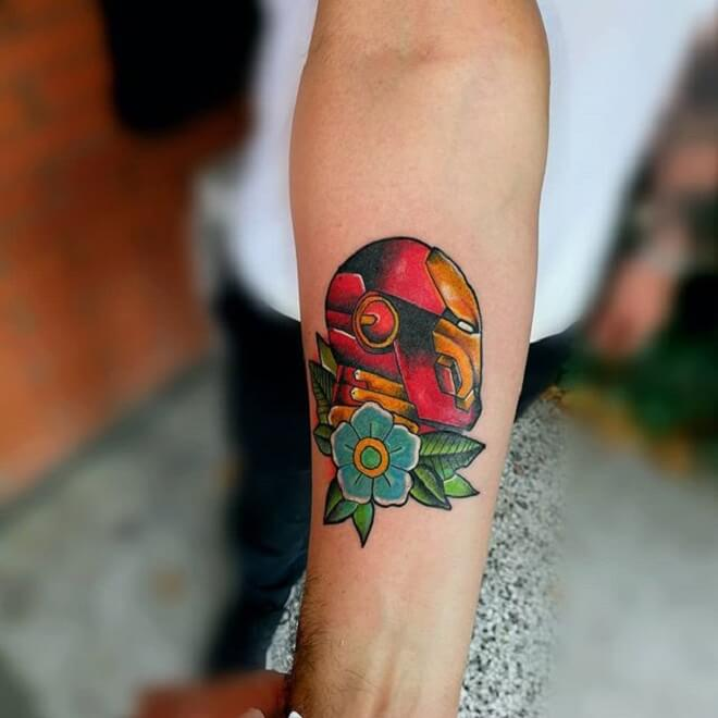 Small Ironman Tattoo