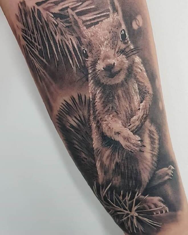 Squirrel Tattoo Art