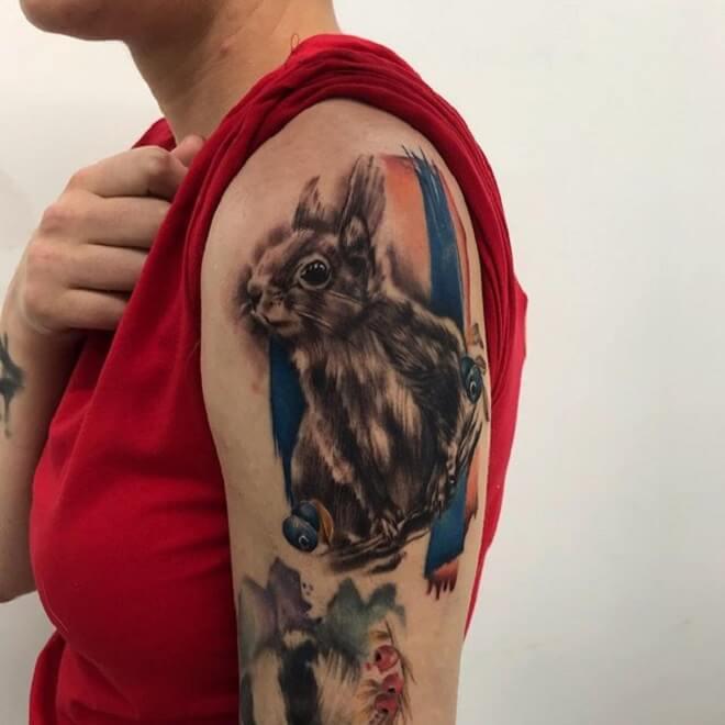 Squirrel Tattoo for Women