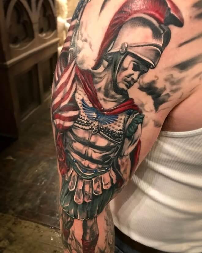 Stflorian Firefighter Tattoo