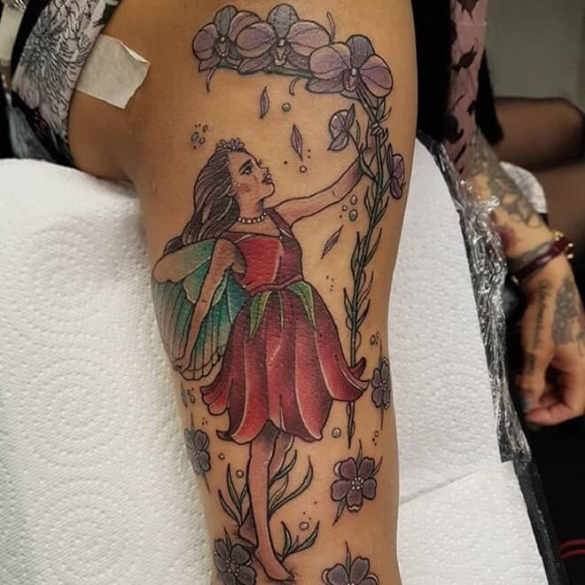 Stunning Fairy Tattoo