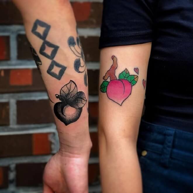 Stunning Peach Tattoo