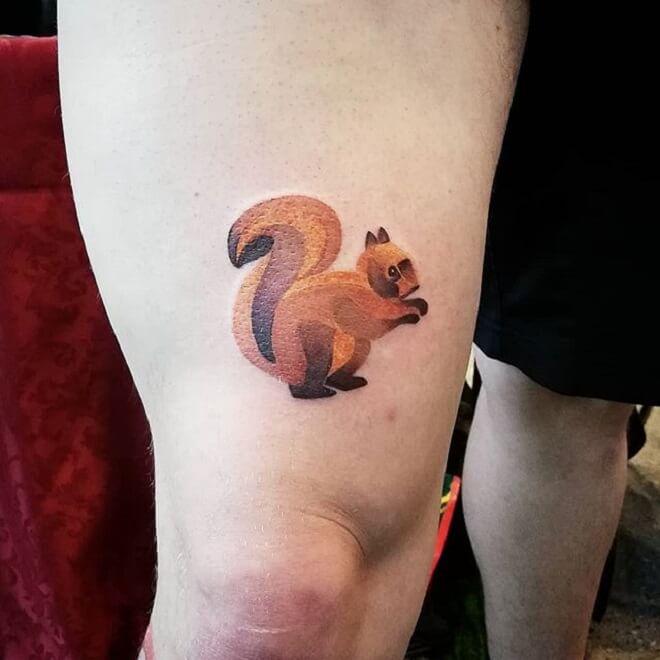 Stunning Squirrel Tattoo