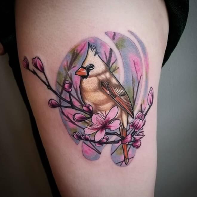Super Cardinal Tattoo