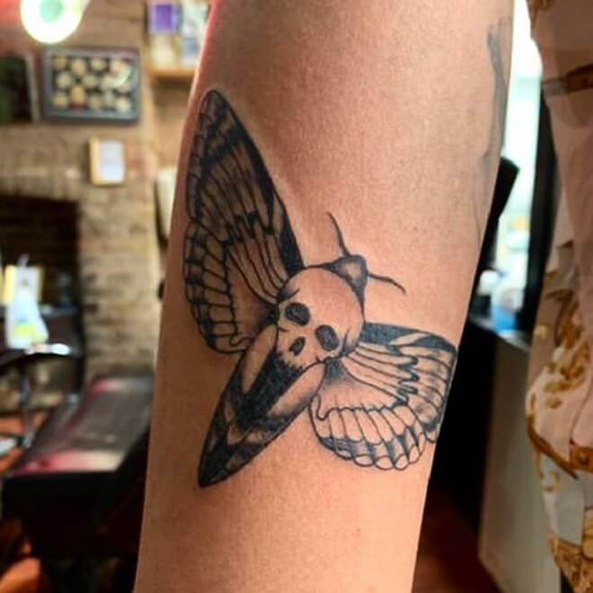 Super Death Moth Tattoo