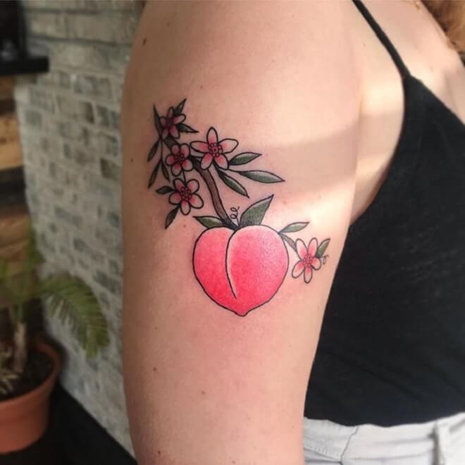 Super Peach Tattoo