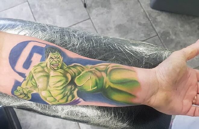 Superhero Hulk Tattoo