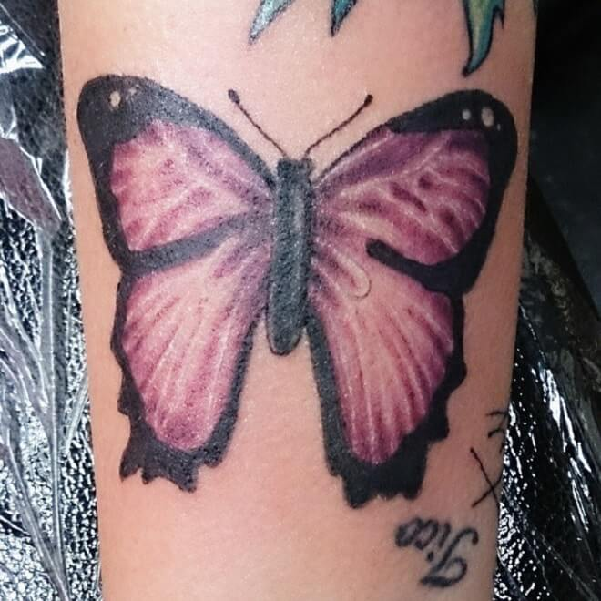 Supreme Purple Butterfly Tattoo