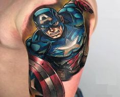 Top Captain America Tattoo