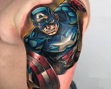 Top Captain America Tattoo