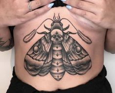 Top Death Moth Tattoo