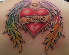 Top Heart with Wings Tattoo
