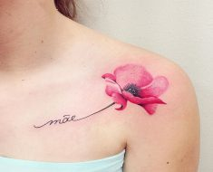 Top Poppy Tattoo