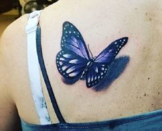 Top Purple Butterfly Tattoo