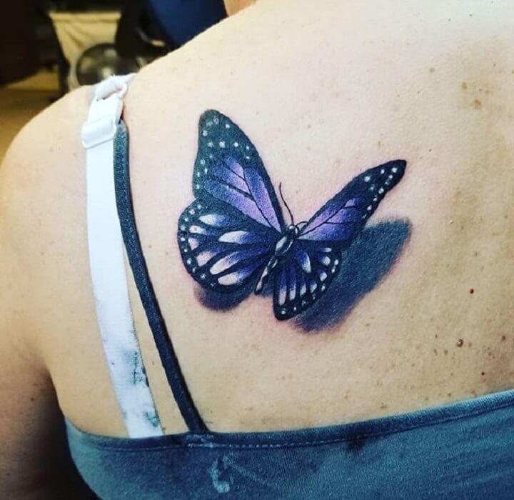 Top Purple Butterfly Tattoo