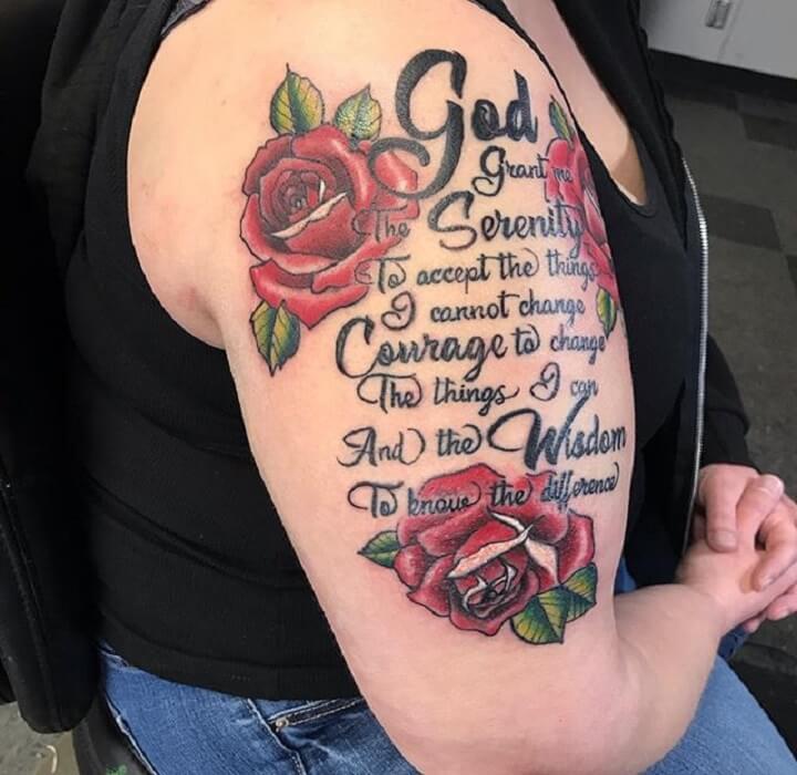 Top Serenity Prayer Tattoo