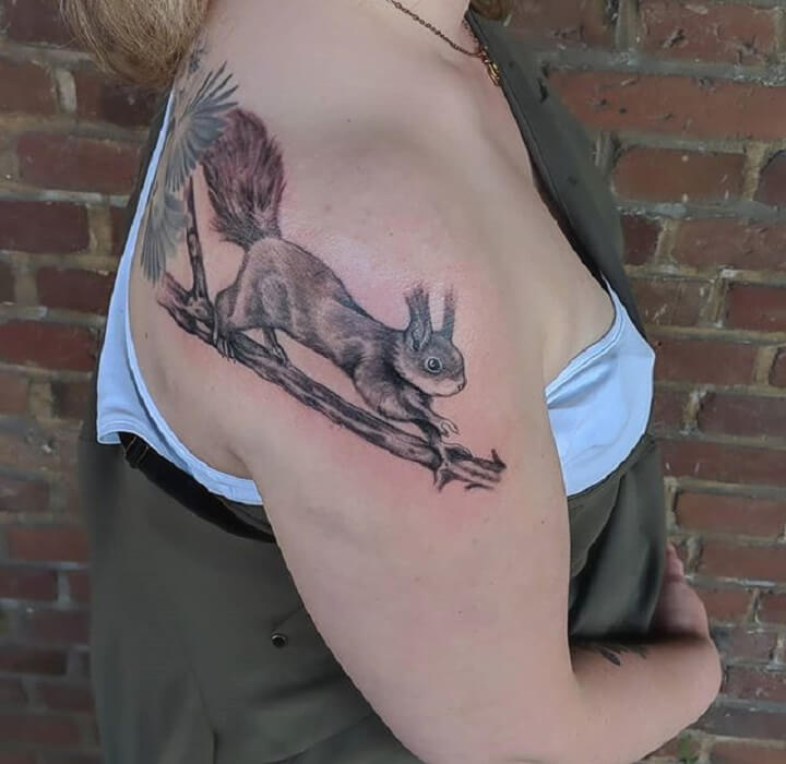 Top Squirrel Tattoo