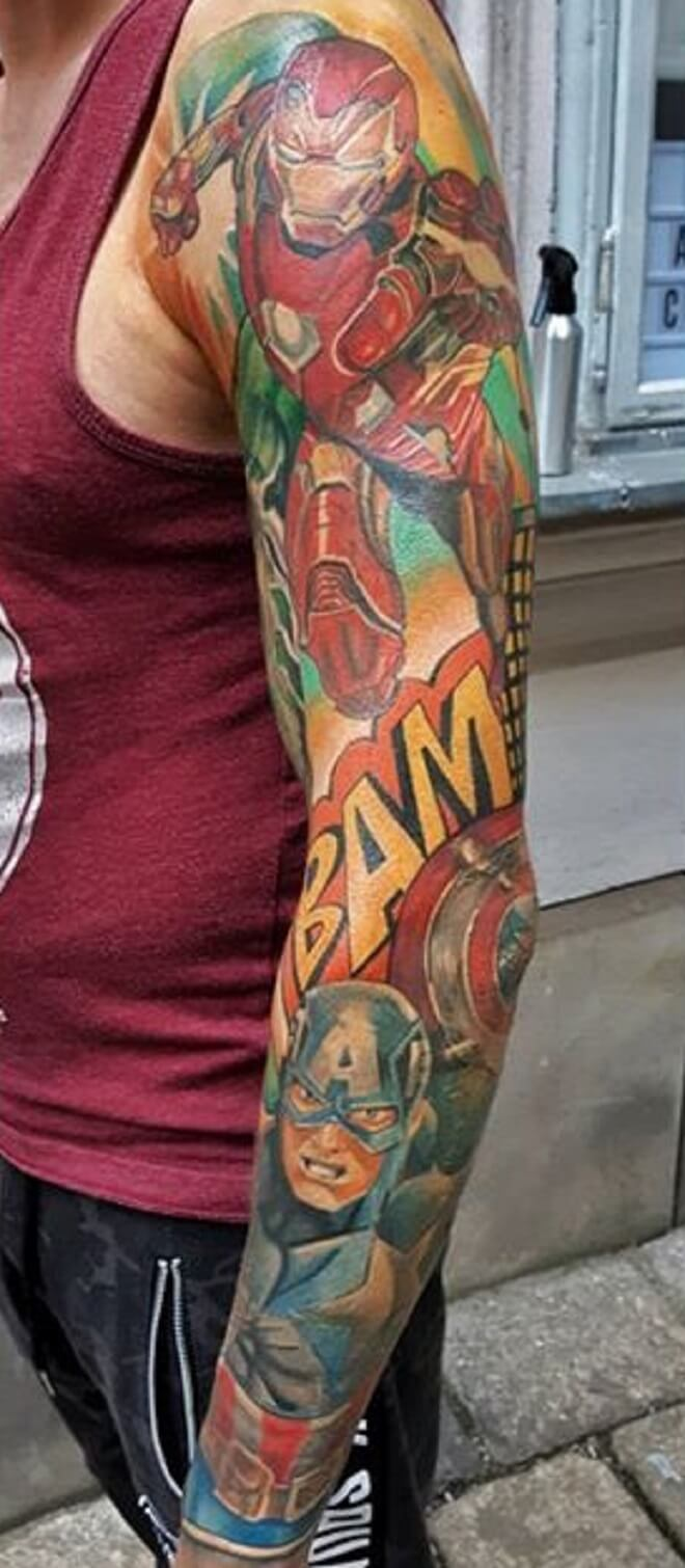 Traditional Ironman Tattoo
