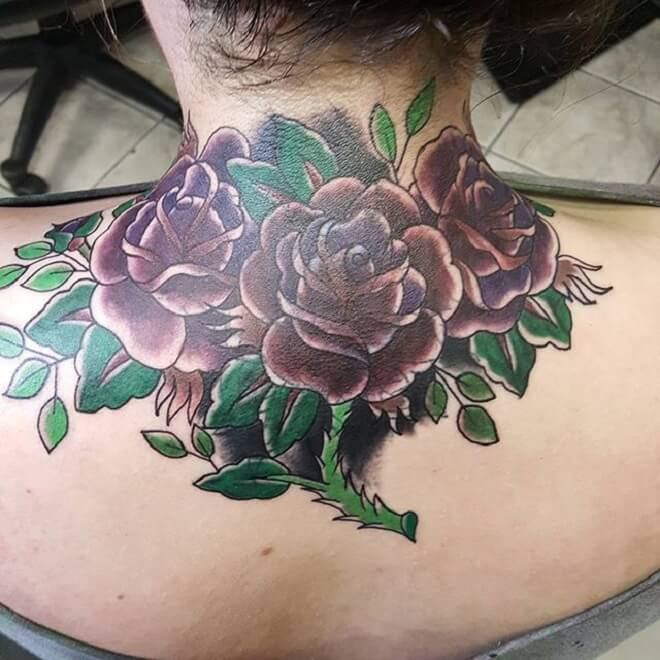 Traditional Popular Rose Tattoo