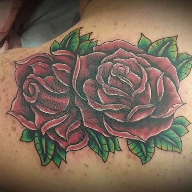 Traditional Rose Tattoo Artist
