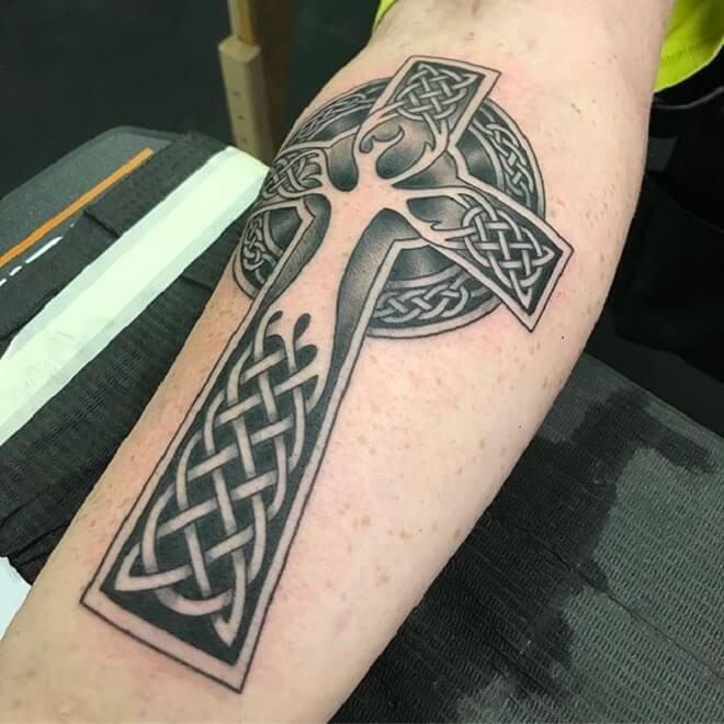 Tree Celtic Cross Tattoo