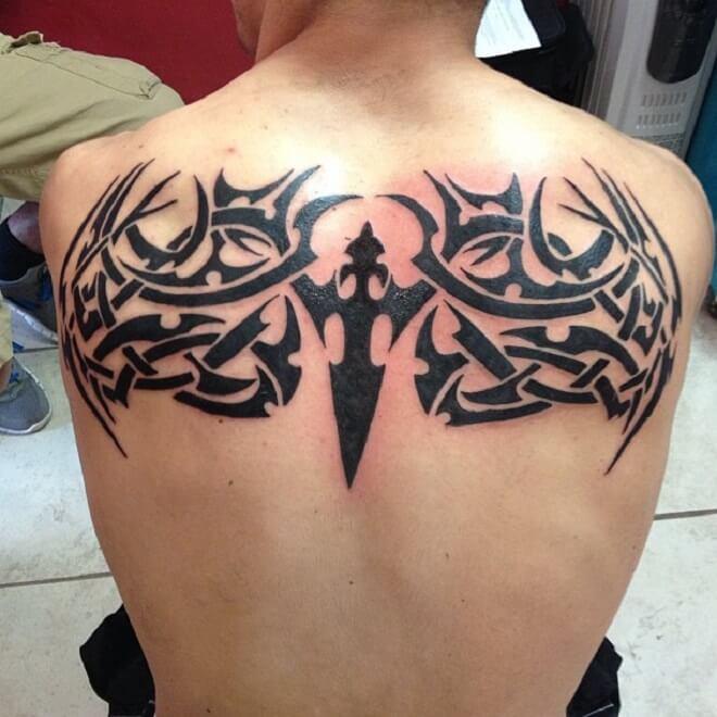 Upper Back Tattoo for Men