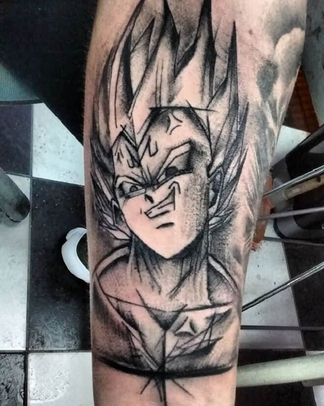 Vegeta Black Work