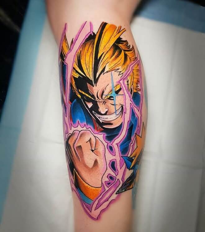 Vegeta Tattoo Art
