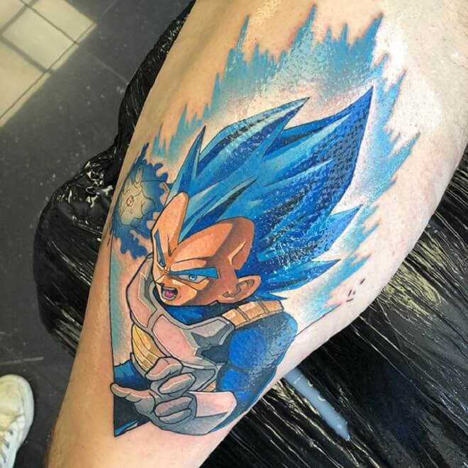 Vegeta Tattoo Designs