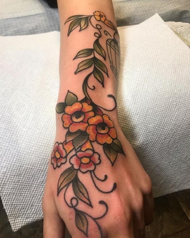 Vine Tattoo Art