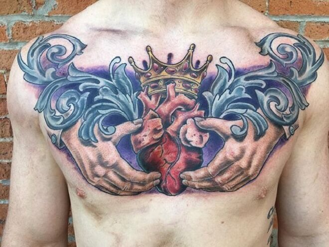 Watercolor Claddagh Tattoo