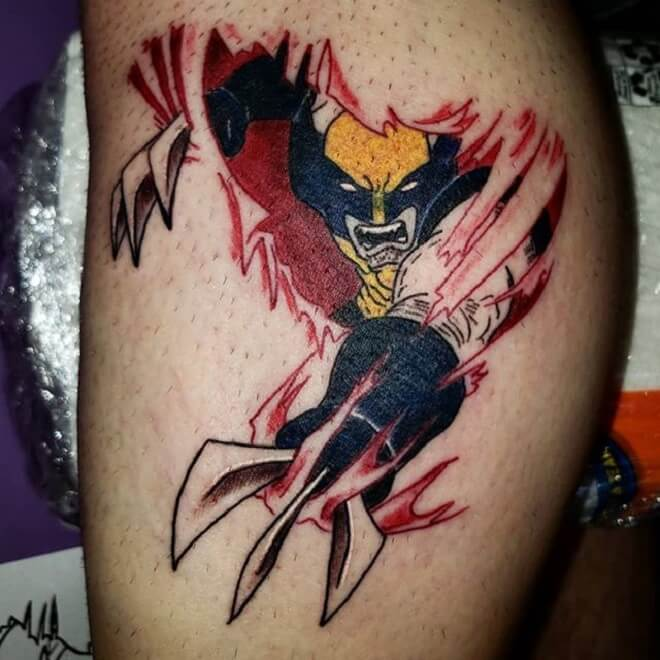 Wolverine Angry Tattoo