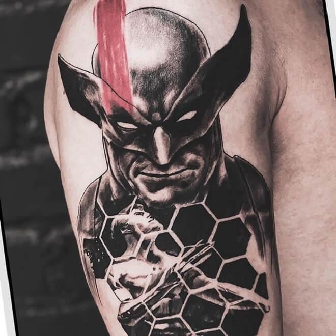 Wolverine Black Work Tattoo