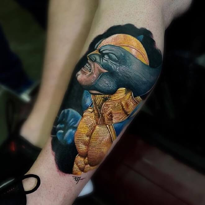 Wolverine Leg Tattoo